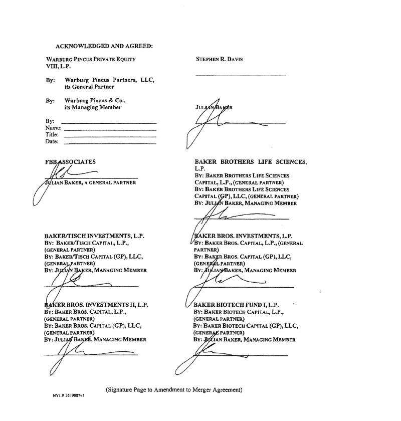 Neurogen Corp Form 8 K Ex 21 Amendment To Agreement And Plan