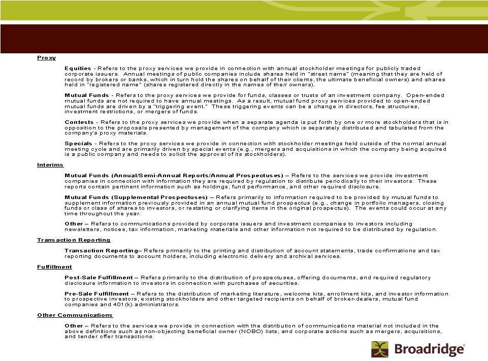 BROADRIDGE FINANCIAL SOLUTIONS, INC  - FORM 8-K - EX-99 1