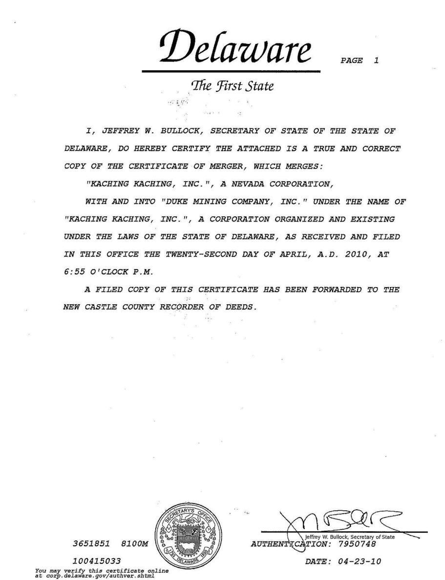 Duke mining company inc form 8 k ex 36 amendment to exhibit 36 xflitez Gallery
