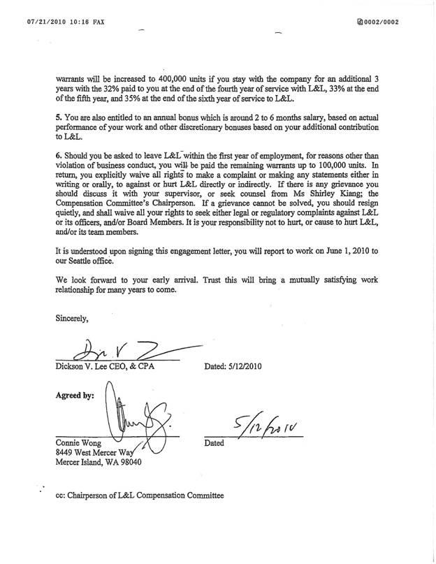L L ENERGY INC FORM S1A EX10 EX1038 EMPLOYMENT – Employment Agreement