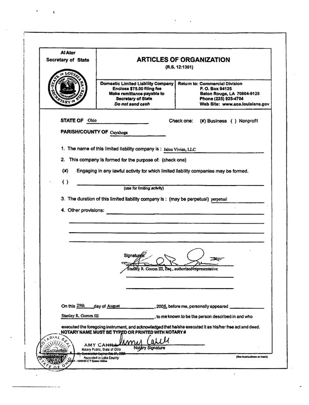 how to get certificate of incorporation article of amendment ontario