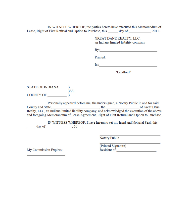Vera Bradley Inc FORM 8K EX101 LEASE AGREEMENT DATED – Lease Purchase Agreement Template