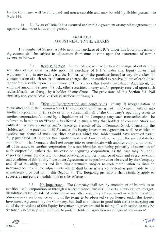 Trucept inc form 8 k ex 1014 equity investment agreement trucept inc form 8 k ex 1014 equity investment agreement june 16 2011 platinumwayz