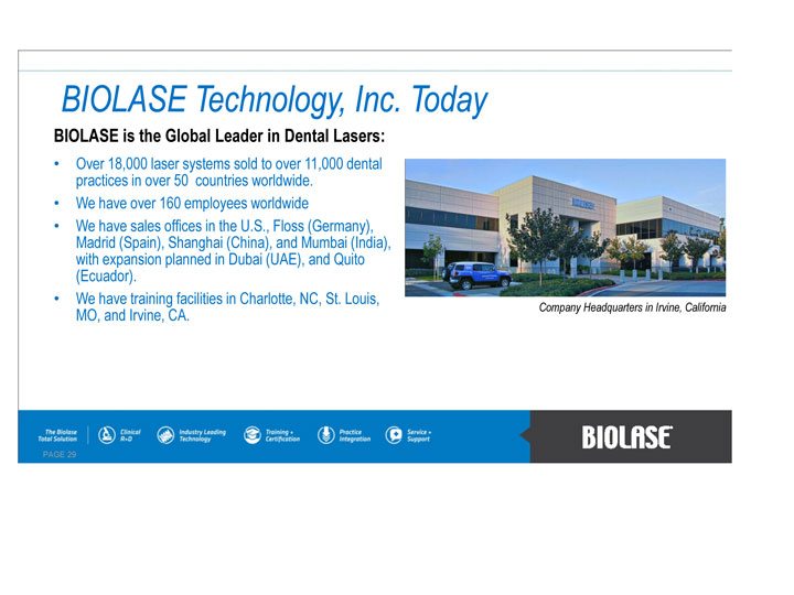 Biolase Inc Form 8 K Ex 99 1 September 12 2011