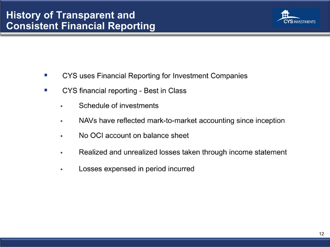 Cys Investments Inc Form 8 K Ex 99 1 Presentation
