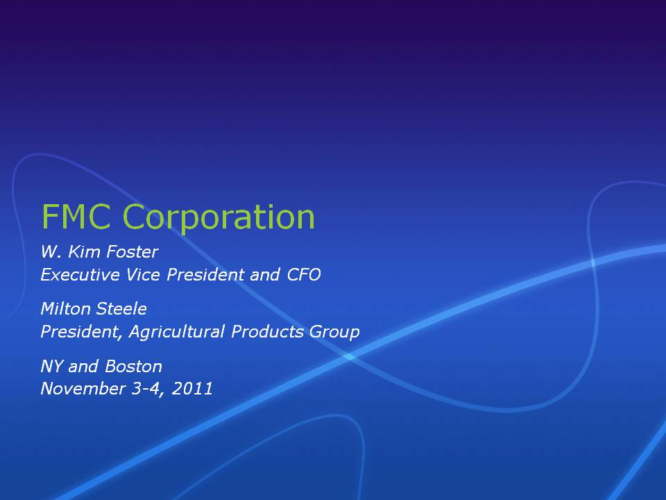 2012 SALES MIX |Fmc Products