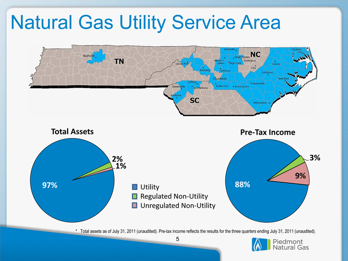 Piedmont Natural Gas Main Map