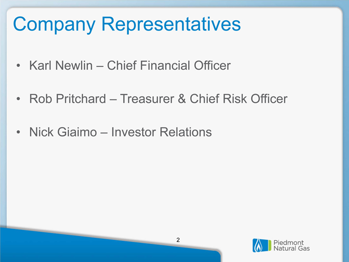 Piedmont Natural Gas Investor Relations