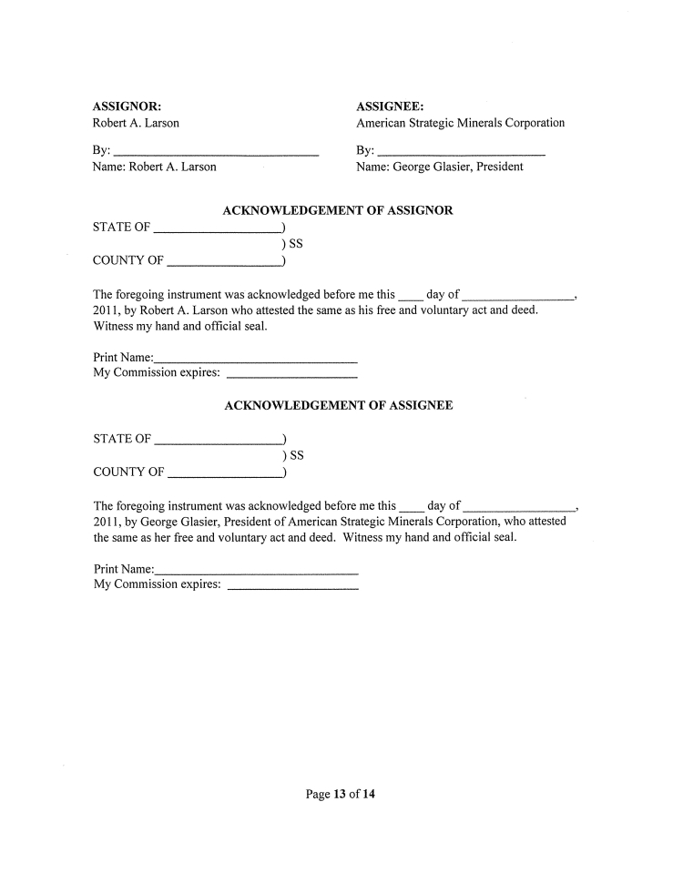 Marathon Patent Group, Inc. - Form 8-K - Ex-10.3 - Assignment Of