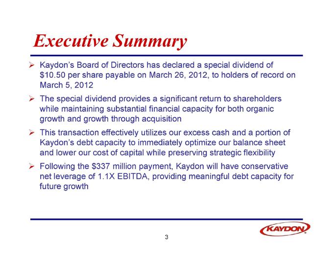 examples of executive board presentation