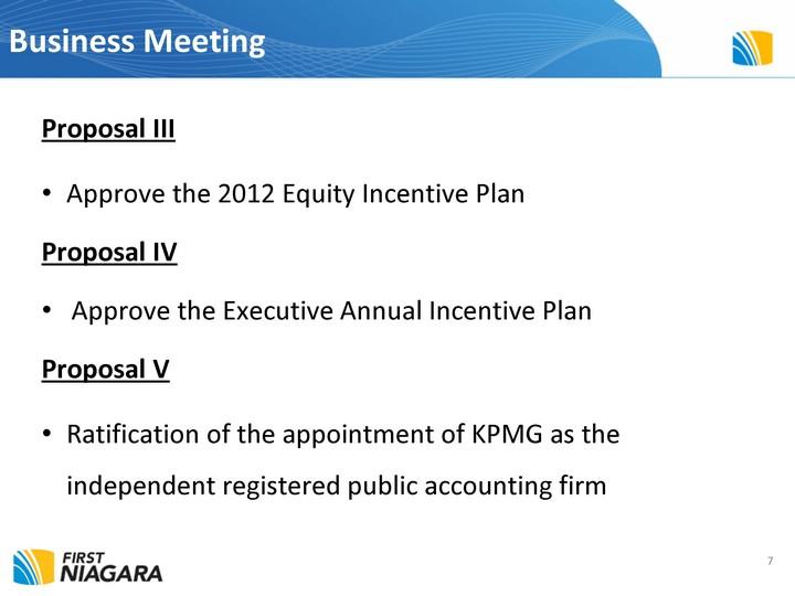 First Niagara Financial Group Inc Form 8 K Ex 991 April 25 2012