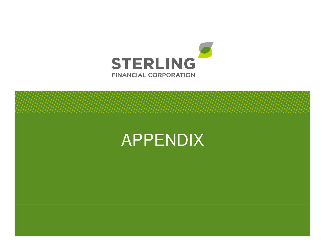 STERLING FINANCIAL CORP WA FORM 8 K EX 99 1
