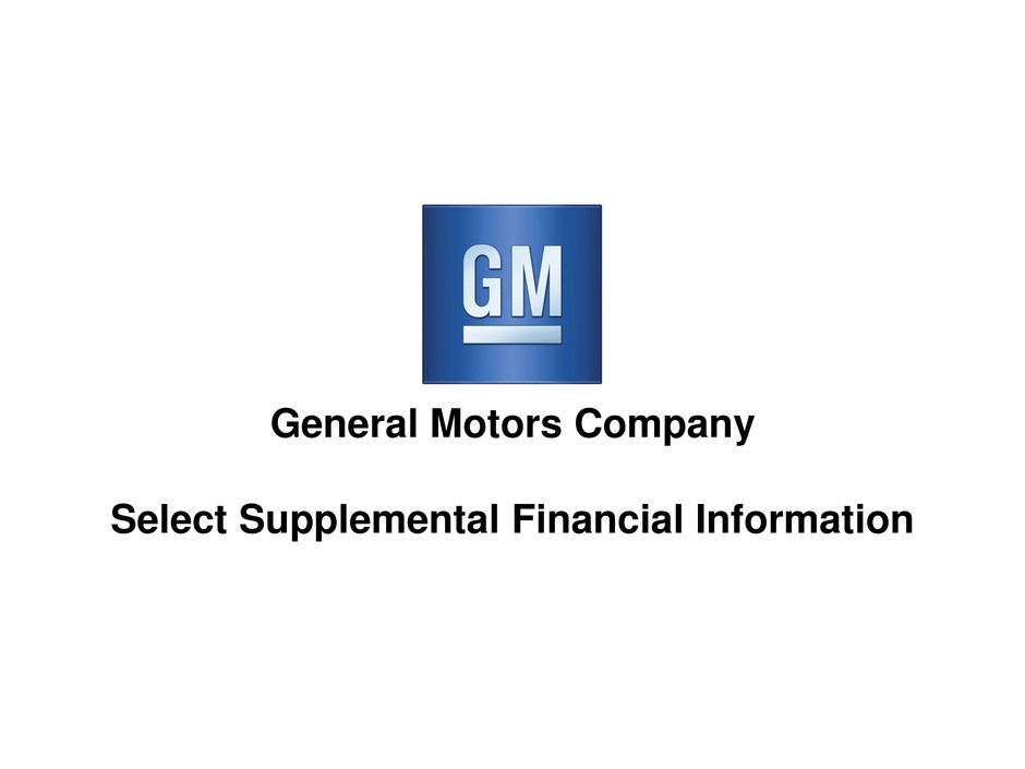 general motors co form 8 k ex 99 2 analyst charts. Cars Review. Best American Auto & Cars Review