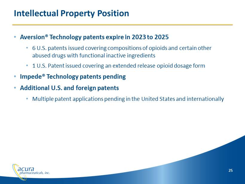 ACURA PHARMACEUTICALS, INC - FORM 8-K - EX-99.1 - EXHIBIT 99.1 - March 10, 2014