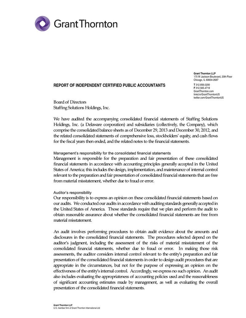 Trueblue Inc Form 8 K A Ex 99 1 Seaton Audited Financial