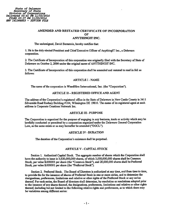 Exelent Template Articles Of Incorporation Model Examples - Amended articles of incorporation template