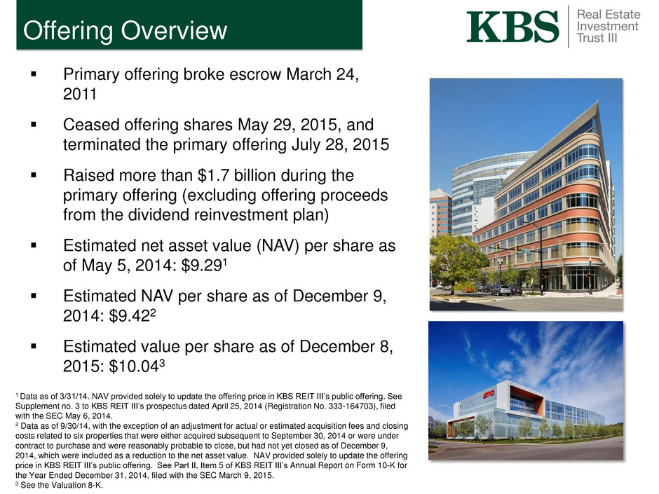 KBS Real Estate Investment Trust III, Inc. - FORM 8-K - EX-99.2 ...