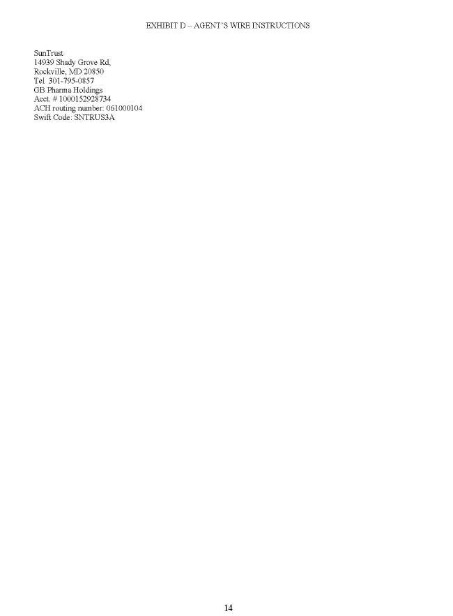 Immune Therapeutics Inc Form 8 K Ex 102 November 1 2016